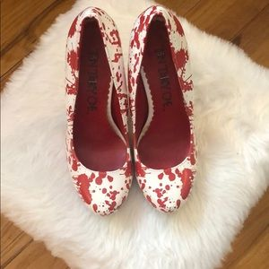 Blood splattered heels